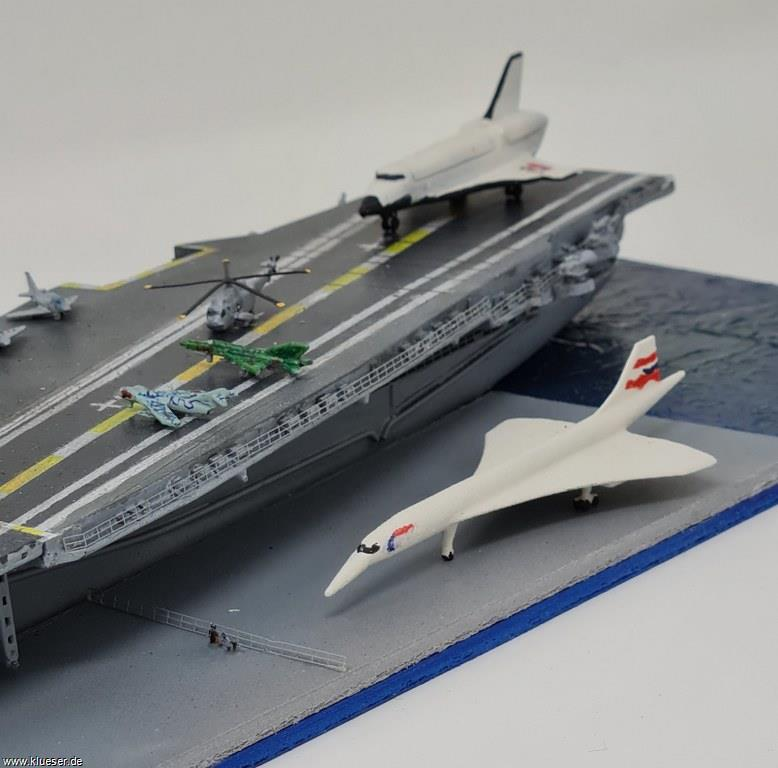 Concorde 1/700, MiG17 Fresco 1/700, MiG21 Fishbed x8 1/700, Space Shuttle Endeavor, USS Intrepid CV-11 w/ angle deck 1972