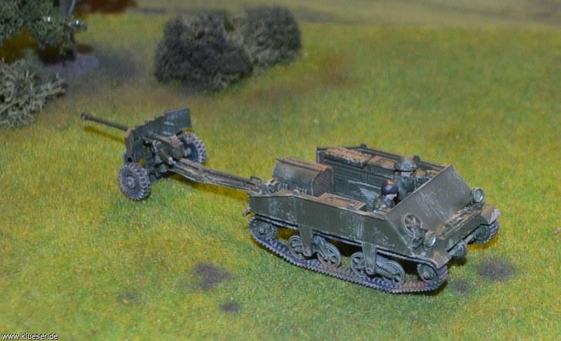 British 6pdr Gun, Loyd Carrier